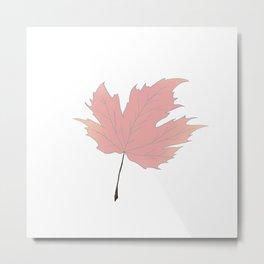 Maple Leaf Turning Metal Print