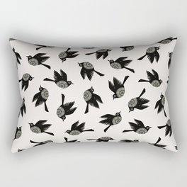 Blackbirds Flying Rectangular Pillow