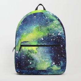 Green galaxy watercolor Backpack
