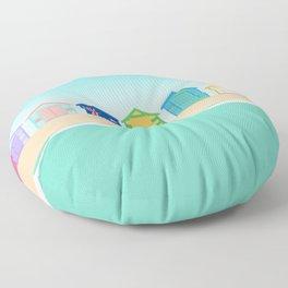 Brighton Beach Bathing Boxes, Melbourne, Australia Floor Pillow