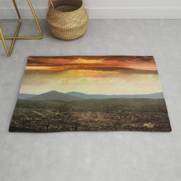 Sunset from Cripple Creek, Colorado, ca. 1899 Rug