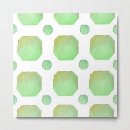 Ombre Octagon (Green) Metal Print
