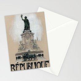 Paris Metro - Republique Stationery Cards
