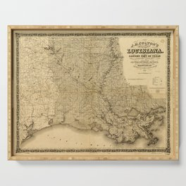 Map of the State of Louisiana (1863) Serving Tray