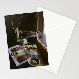 Wine and Cheese Stationery Cards
