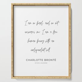 12     Charlotte Bronte Quotes   210226   Serving Tray