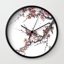 Cherry Blossom One Wall Clock