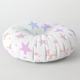 Lavender pink coral watercolor hand painted stars Floor Pillow