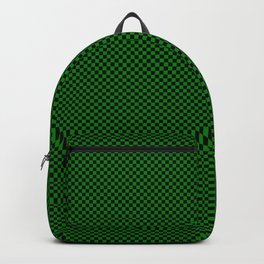 Black and dark green squares Backpack