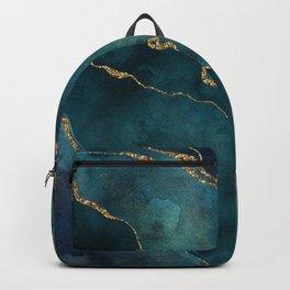 Golden Gemstone Glamour Mineral Backpack