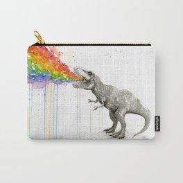 T-Rex Dinosaur Rainbow Puke Taste the Rainbow Watercolor Tasche
