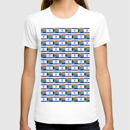 Mix of flag: Israel and south africa T-shirt