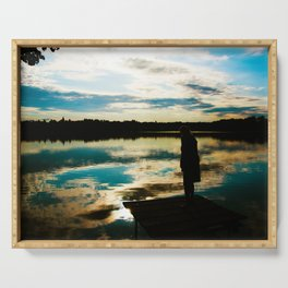 Dreamtime by the Lake Serving Tray