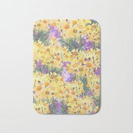 Yellow Daffodil Garden Bath Mat
