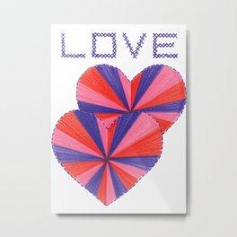 Cross Stitch Love Metal Print