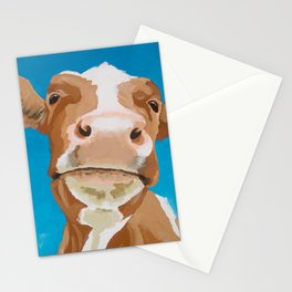Enid the Contented Cow Stationery Cards