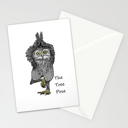 the tree pose Stationery Cards