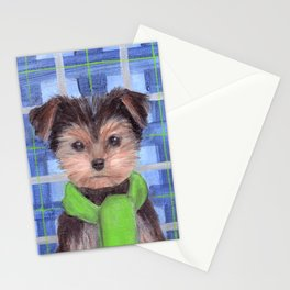 Yorkie Poo in Scarf Stationery Cards