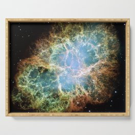 Hubble Space Telescope - Detailed image of the Crab Nebula Serving Tray