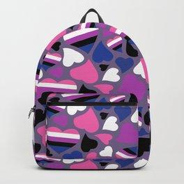 GenderFluid Pride Hearts Backpack