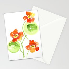 Orange Nasturtium Stationery Cards