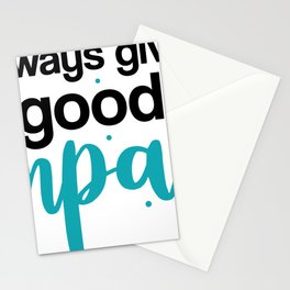Always Give Good Impact Stationery Cards