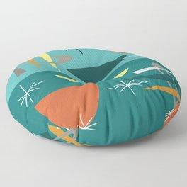 Turquoise Mid Century Modern Floor Pillow