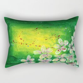 Flowers in the Meadows Rectangular Pillow