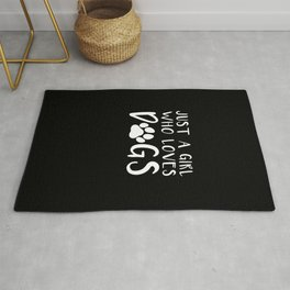 Dog Lover Gifts Just a Girl Who Loves Dogs Gift Rug