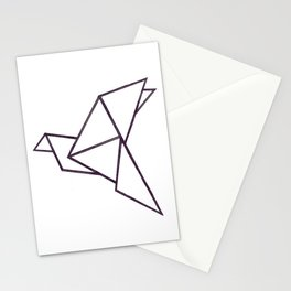 Origami bird Stationery Cards