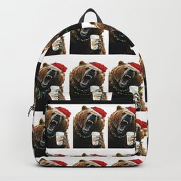 Grizzly Mornings Christmas Backpack
