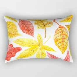 Atumn leaves watercolor Rectangular Pillow