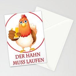 DER HAN MUSS LAUFEN Stationery Cards