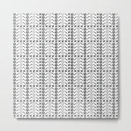 Dagger Danger Cross by Chrissy Curtin Metal Print