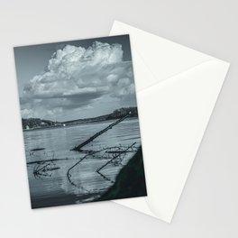 Cloudy Möhne Reservoir Lake 2 dark Stationery Cards