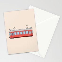 Vintage Tram Art Stationery Cards