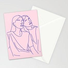 on ne voit bien qu'avec le coeur Stationery Cards