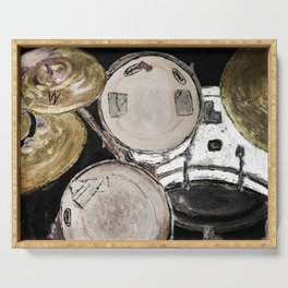 drum set, ready to rock Serving Tray