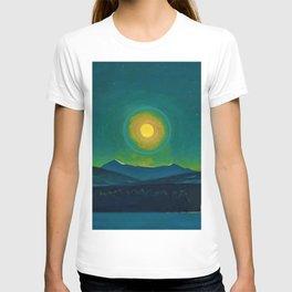 Winter Moonlight Mountain Landscape by Rockwell Kent Appalachian T-shirt