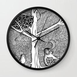 Springtime Birds Wall Clock