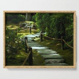 Moss gardern path Serving Tray