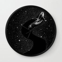 Starry Orca (Black Version) Wall Clock