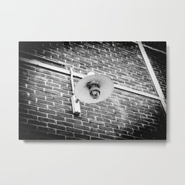 Industrial old lamp on brick wall | Black & White | Street Photography | Travel Photography | Photo Art Print Metal Print