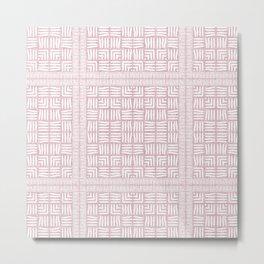 Nappy Faux Velvet Framed Weave in Pale Pink Reversed Metal Print