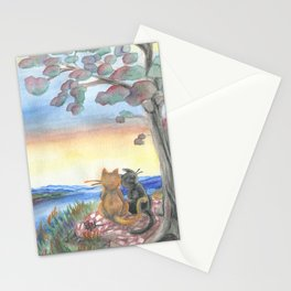 Two Cat Hill Stationery Cards