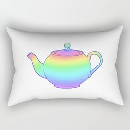 Rainbow Teapot Rectangular Pillow