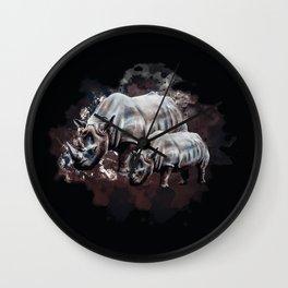 Dangerous Rhino Wall Clock