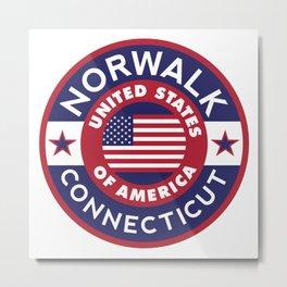Connecticut, NORWALK Metal Print