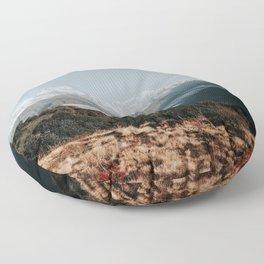 Himalaya Mountain peaks, Nepal Floor Pillow