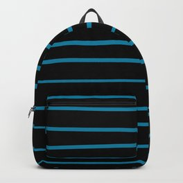 Primary Blue, Wishing Well Blue, Amazing Sky, Blue to the Bone Hand Drawn Horizontal Stripes Backpack